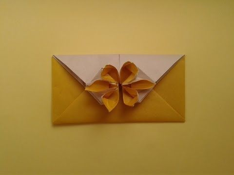 Easy Origami Square Flower Envelope With Secret Message