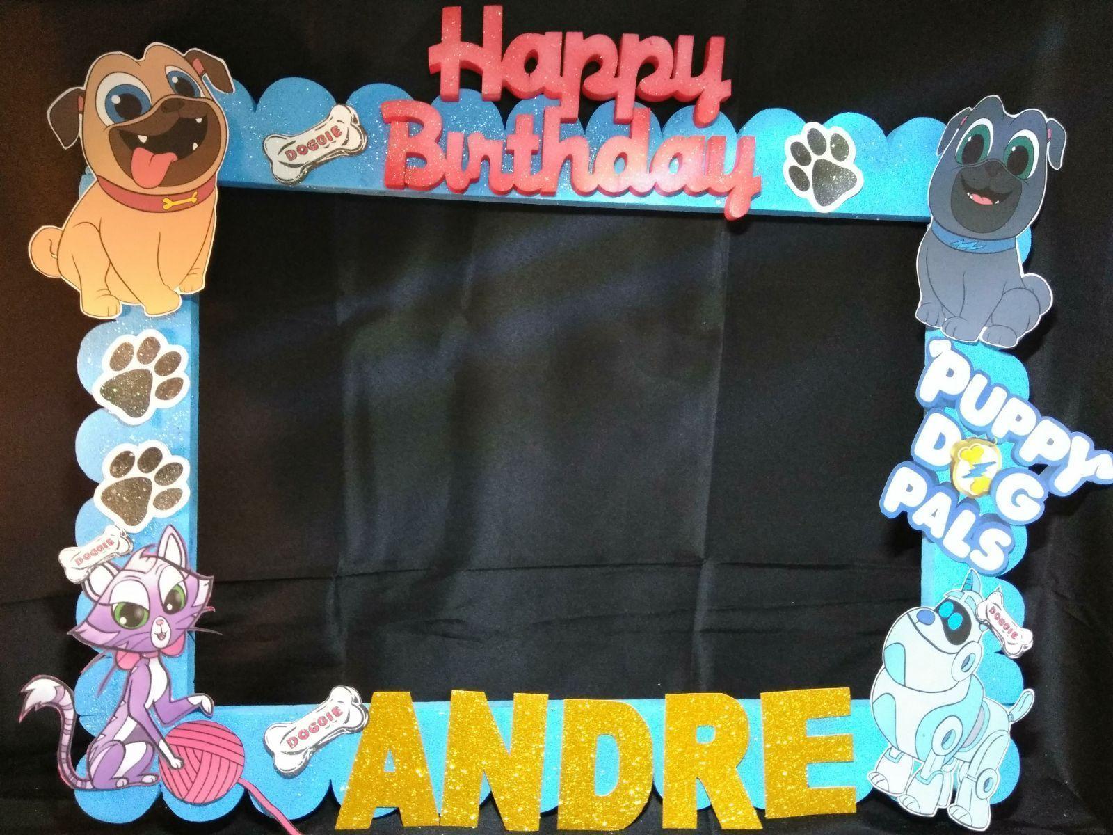 Puppy Dog Pals Photo Booth Frame Puppy Birthday Parties Dog