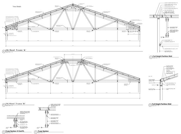 45 Foot Wood Trusses Commercial Bldg Oakland Sally Mcfadden Archinect Wood Truss Truss Structure Roof Structure