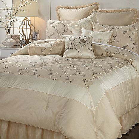 Video Highgate Manor Clarissa 10 Piece Comforter Set Ivory Hsn Comforter Sets Comforters Highgate