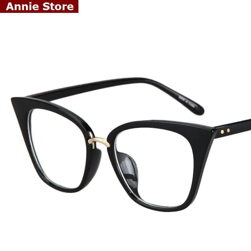 Peekaboo yeni 2017 moda kedi göz gözlük çerçeveleri optik marka ...