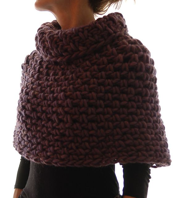 Magnum Capelet #4 (crochet) pattern by Karen Clements | Chal, Tejido ...
