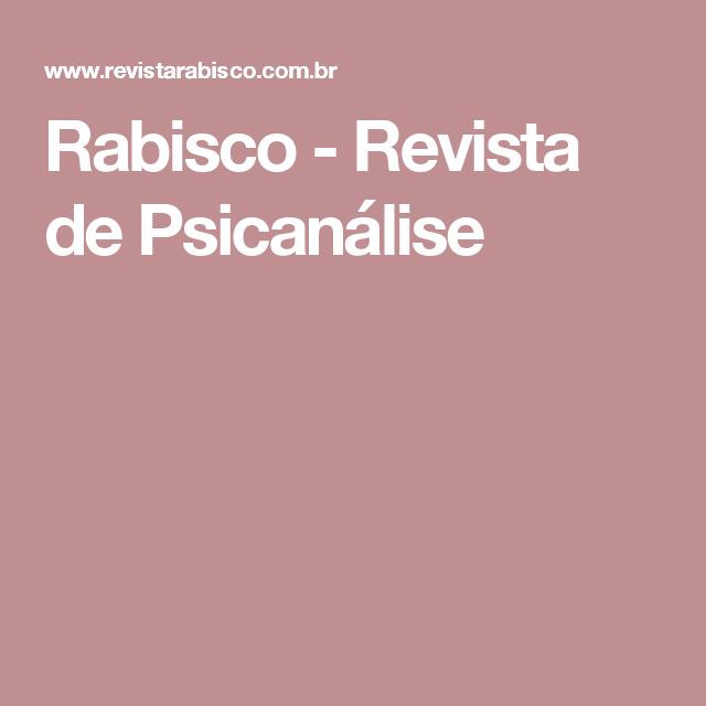 Rabisco - Revista de Psicanálise