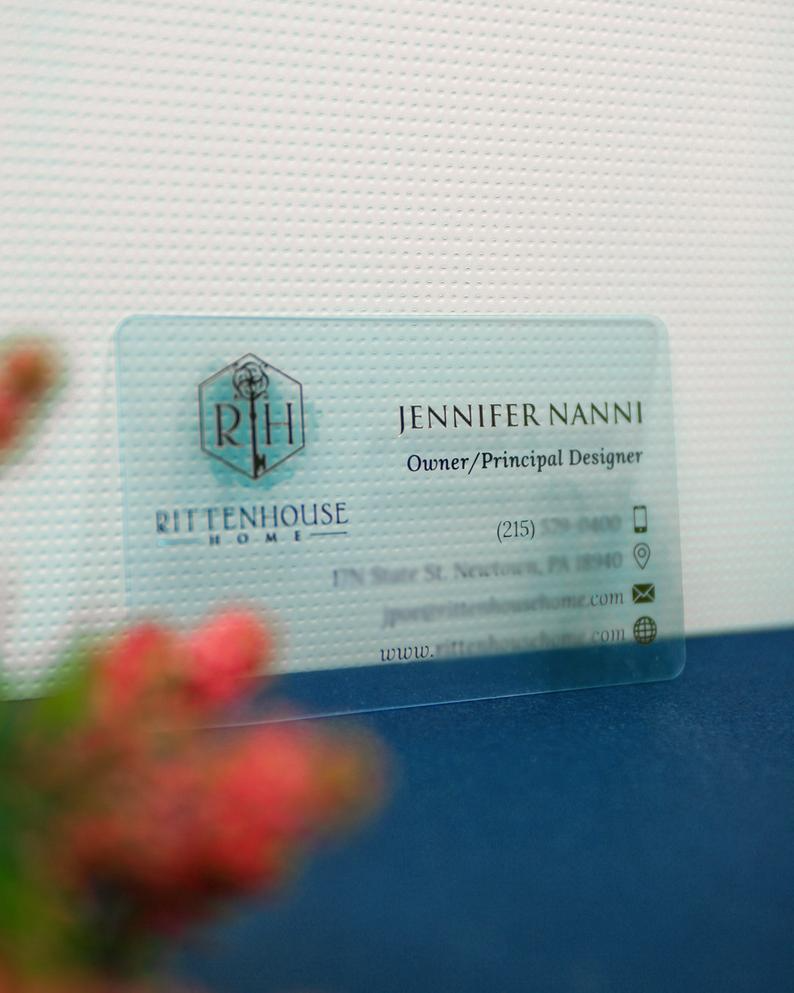 Clear Plastic Business Cards With Real Gold Foil And Custom Etsy Plastic Business Cards Sell Gift Cards Online Best Small Business Ideas