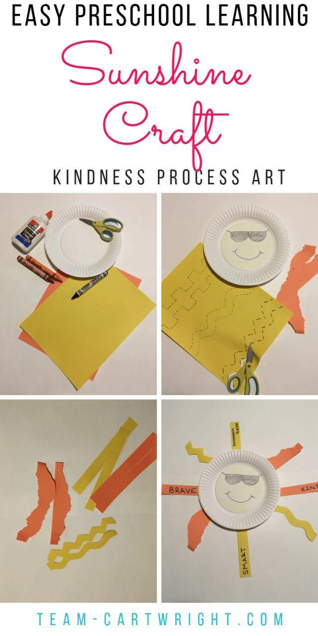 Easy Preschool Sunshine Craft: Building Kindness and Fine ...