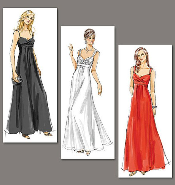 Evening Gown Pattern Wedding Dress Bridal Bridesmaid