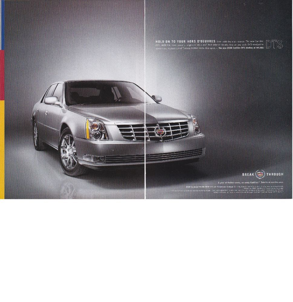 2005 magazine ad 2006 cadillac dts print clipping car automobile vintage 2 pages vintage