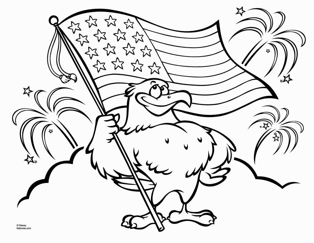 Patriotic Coloring Pages Printable American flag
