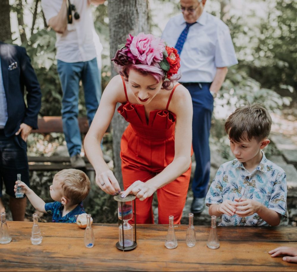 Rainbow Hour Glass Sand Ceremony for Family in 2020