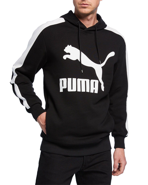 6cbd98734b PUMA MEN'S CLASSIC T7 LOGO PULLOVER HOODIE, BLACK. #puma #cloth ...