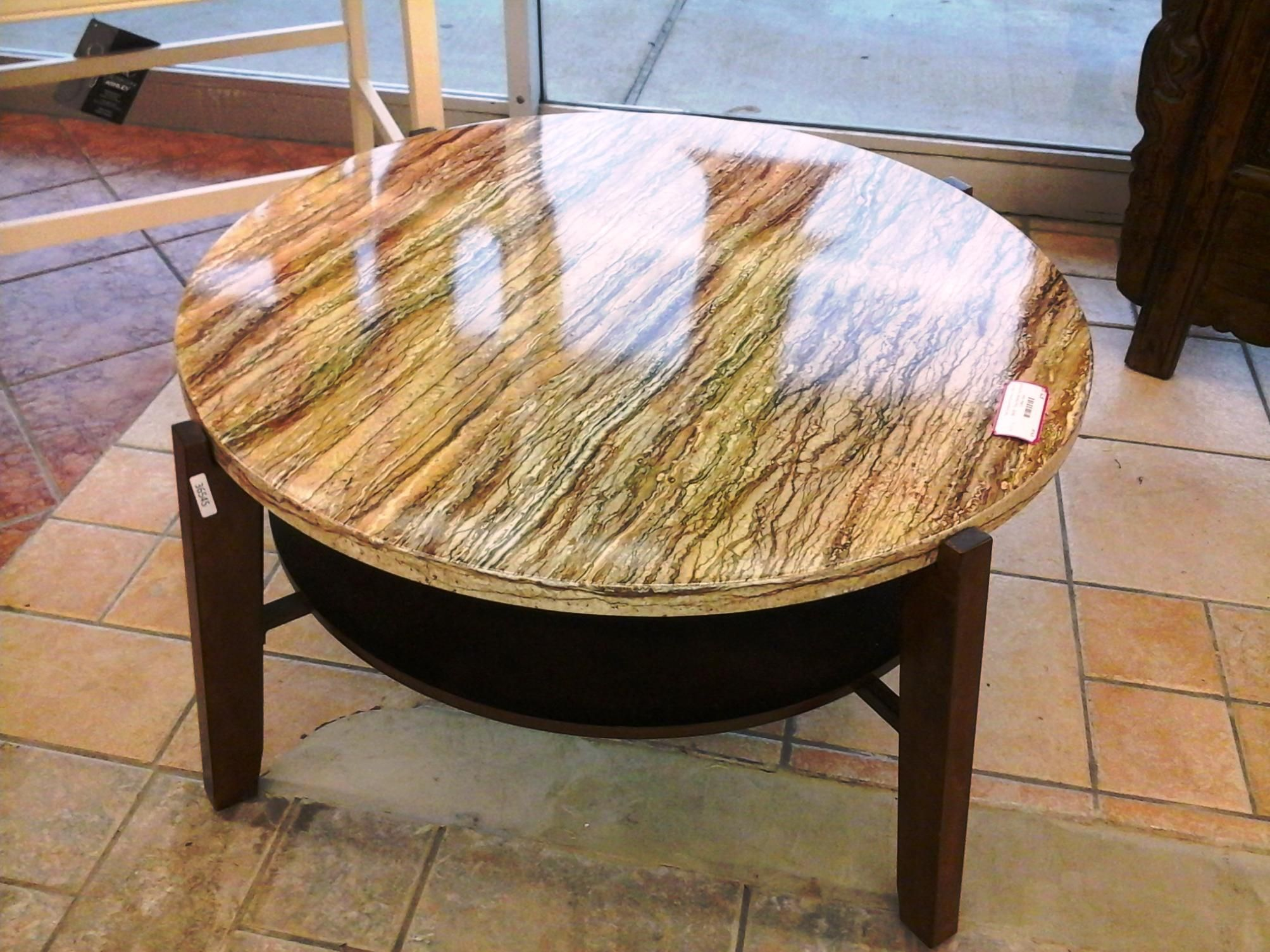 Best Design Faux Marble Coffee Table