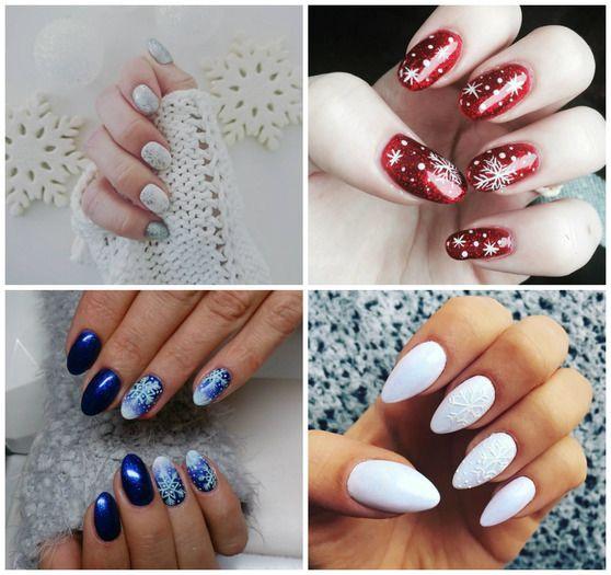 Wzorki Na Paznokcie śnieżynki Tips Pinterest Nails I Manicure