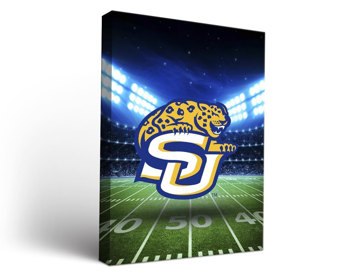 Southern University Jaguars Football Stadium Canvas Art Rectangle