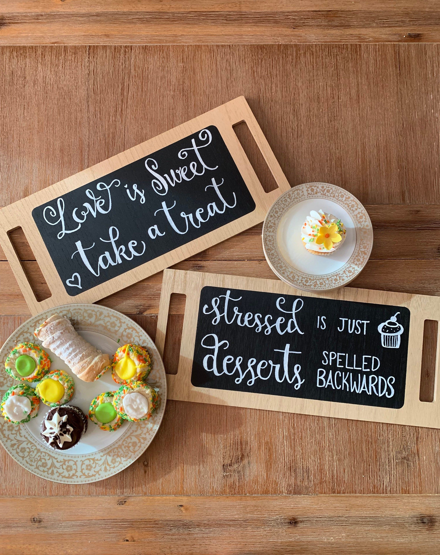 Chalkboard Dessert Trays, Dessert trays, Party decor ...