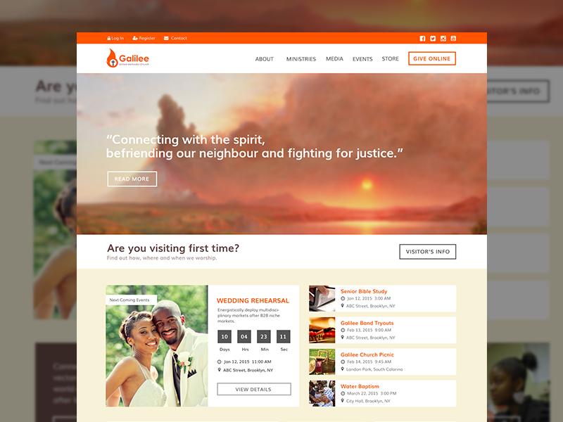 Galilee Church Website Church website design, Church