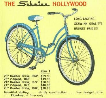 841f06f6023 1961 The Schwinn Hollywood (my first bike, not sure what year it was, but  blue with the S on the seat, for my name of course)