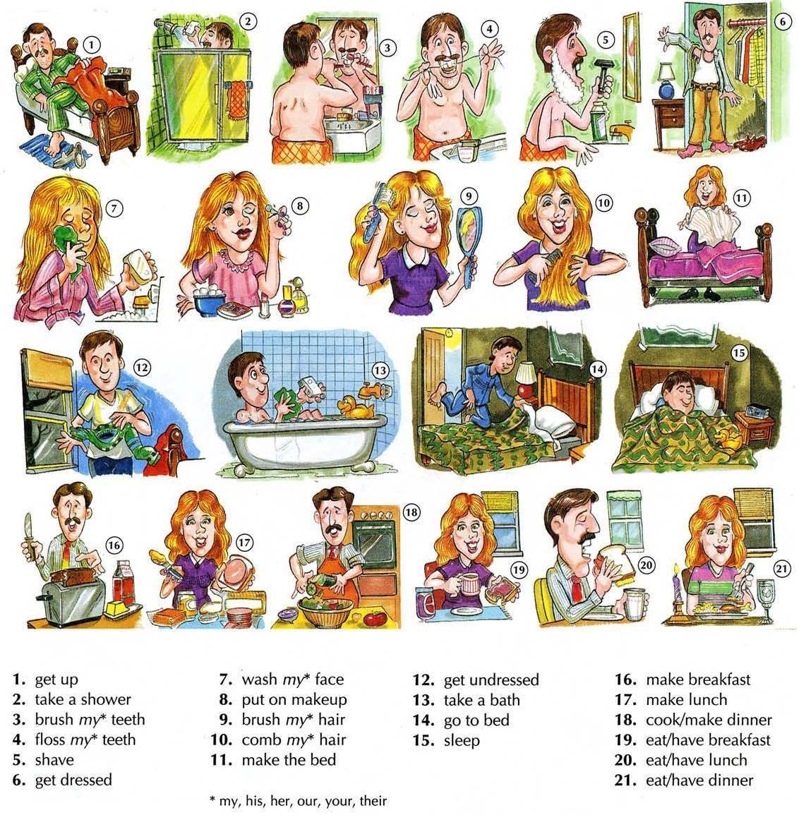 Basic English I Daily Routine