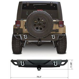 Restyling Factory Jk Jeep Wrangler Rear Bumper With Receiver And D