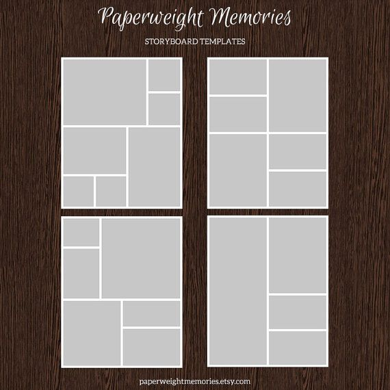 16x20 photo storyboard templates photo collage template psd template resize to 8x10 for. Black Bedroom Furniture Sets. Home Design Ideas