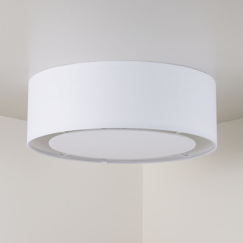 White Drum Shade Flushmount New House K S Room In 2019