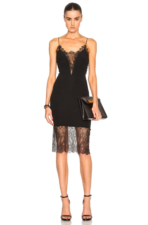 Image 1 of Kiki de Montparnasse Lace Inset Dress em Preto