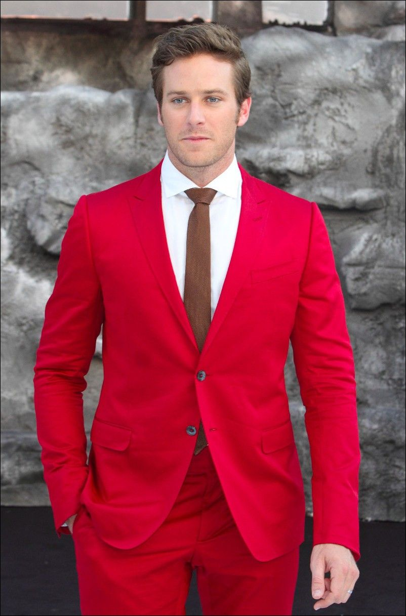 Red Wedding Suits For Men Casual
