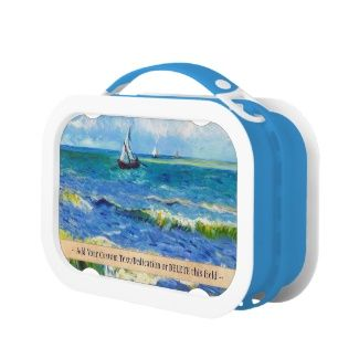 Cool Tattoo Oriental and Japanese Fine Art - Customizable Gifts and Home Decoration from Zazzle: #Seascape at #Saintes-Maries #Vincent Van #Gogh #art #Lunchbox #postimpressionism #painting #customizable #gift
