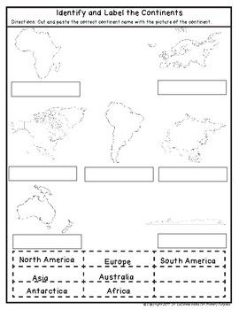 Continents and Major Oceans for 1st Grade   Major oceans ...
