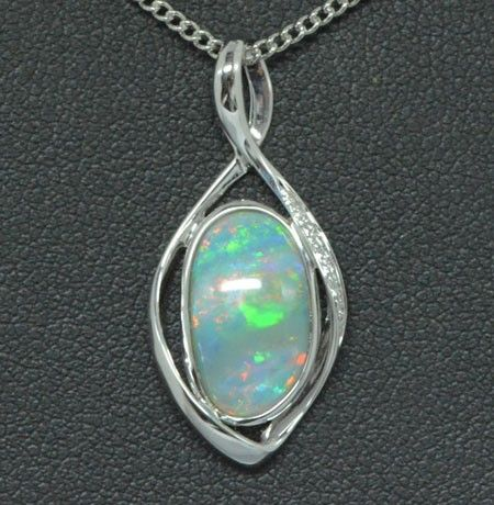 18ct white gold solid opal pendant opalsaustralia opal pendants 18ct white gold solid opal pendant opalsaustralia aloadofball Gallery