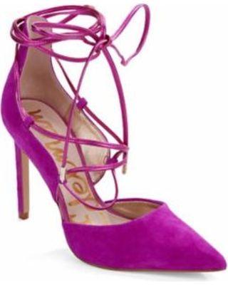Sam Edelman Sam Edelman Dayna Suede Lace-Up Pumps Women's Fuchsia ...
