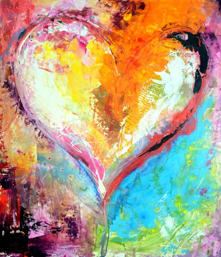 Heart Paintings | Kunstproduktion, Christliche kunst, Kunstmalerei