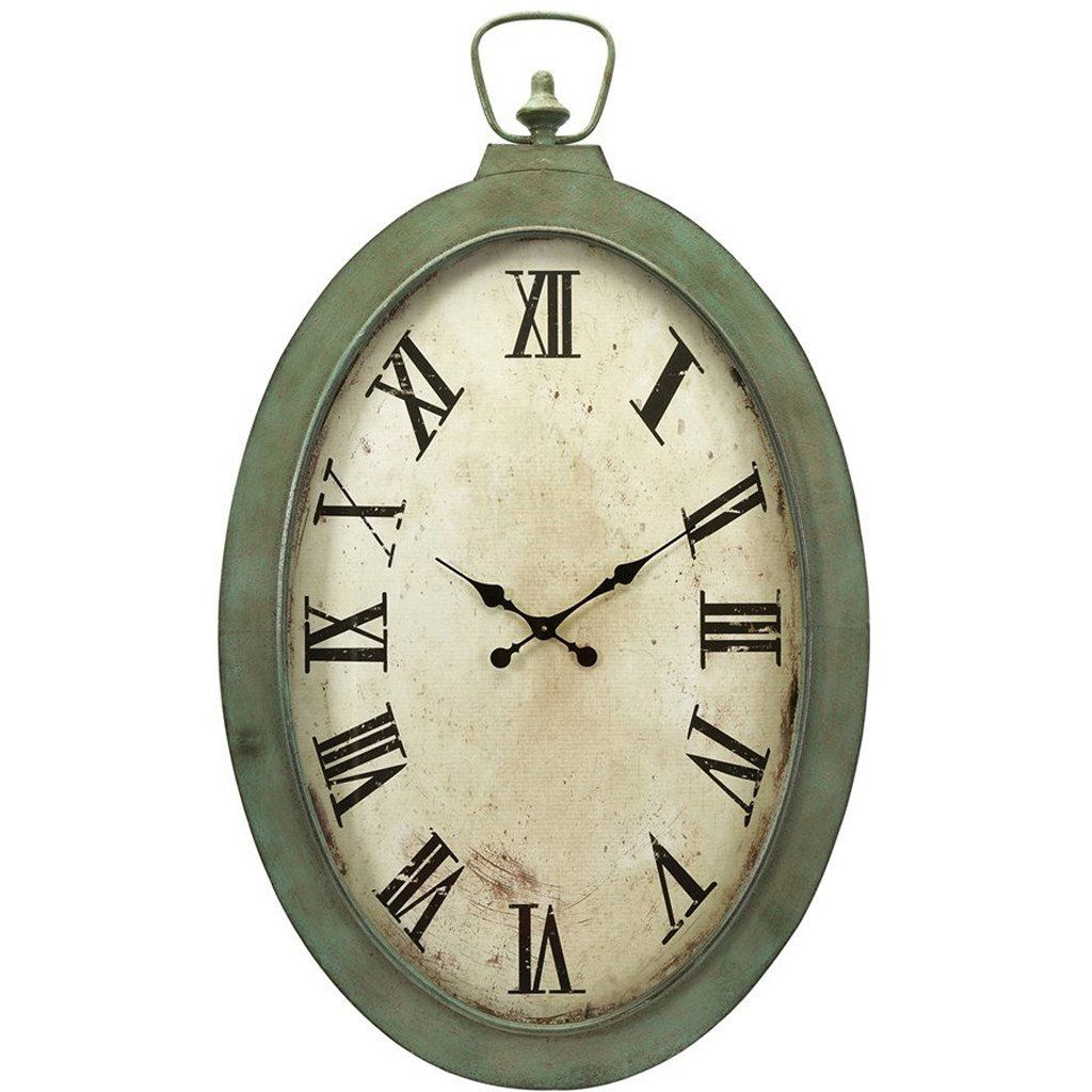 Large Vintage Style White Oval Pocket Watch Wall Clock Jacob Www Vintagevibe Co Uk French Country Dining Room Vintage Wall Clock French Country Dining