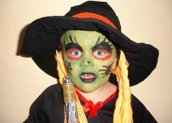 Maquillaje Infantil De Bruja CMO MAQUILLAR A LAS NIAS DE