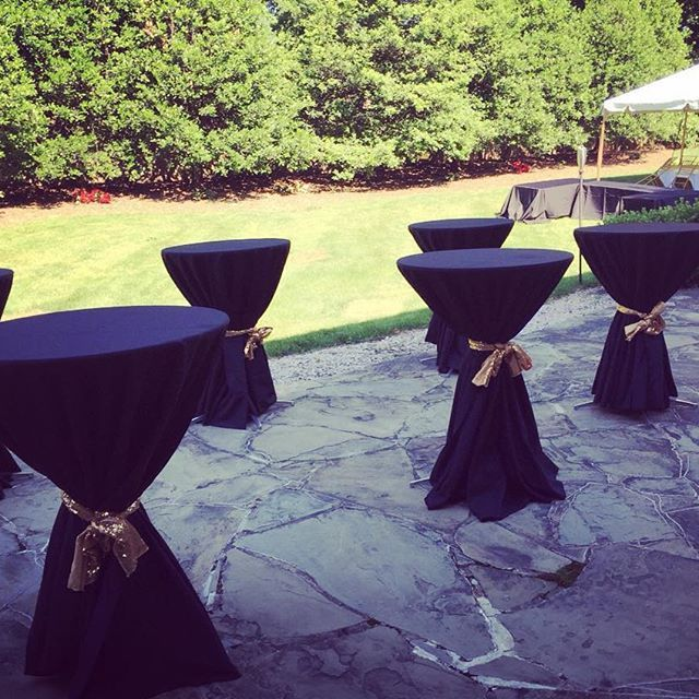 Featuring Our Hi Boy Tables With A Sequin Bow... We Love How All