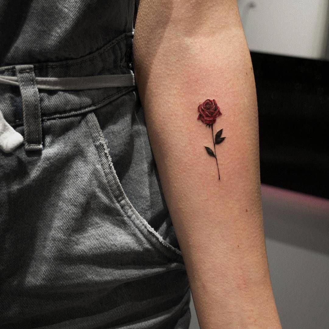 Minimalist Rose Tattoo C Catherine Pizarro Menstattoos Small Rose Tattoo Beautiful Small Tattoos Rose Tattoo Design