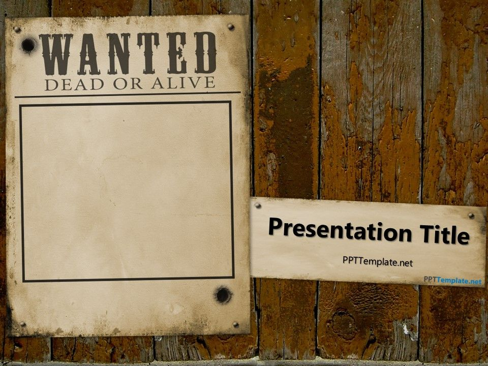 Free Wanted Dead Or Alive Powerpoint Template To Analyze How