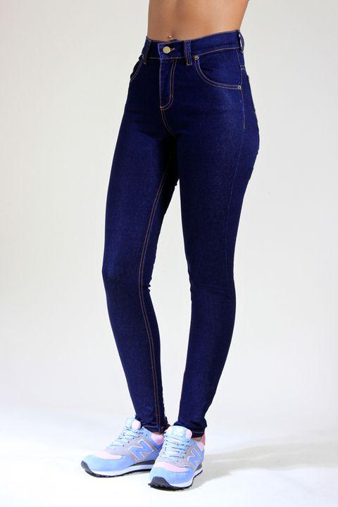 11677f7d16cd8 Chupín Tiro Alto Classic BLue Jeans Mujer