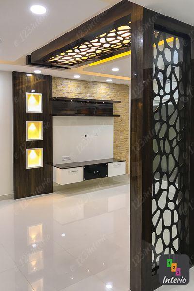 Living Room As Designed And Executed For Mr Bala Shriram Suhaana Yelahanka A Ceiling Design Bedroom Ceiling Design Living Room Living Room Partition Design