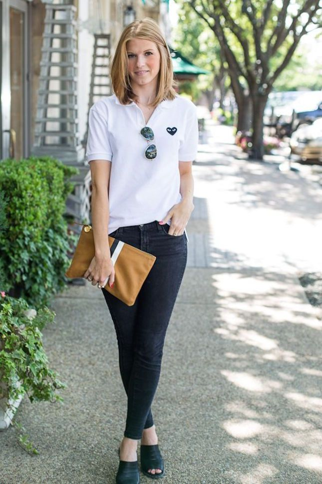ecc0b95b731c The Polo Shirt Is Back! 16 Modern Ways to Style It via Brit + Co ...