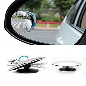 Amazon Com Upgrade Round 2 Blind Spot Mirrors Frameless Hd Glass Convex Wide Angle 360 Rotate Adjustable Stic With Images Blind Spot Mirrors Car Mirror Rear View Mirror