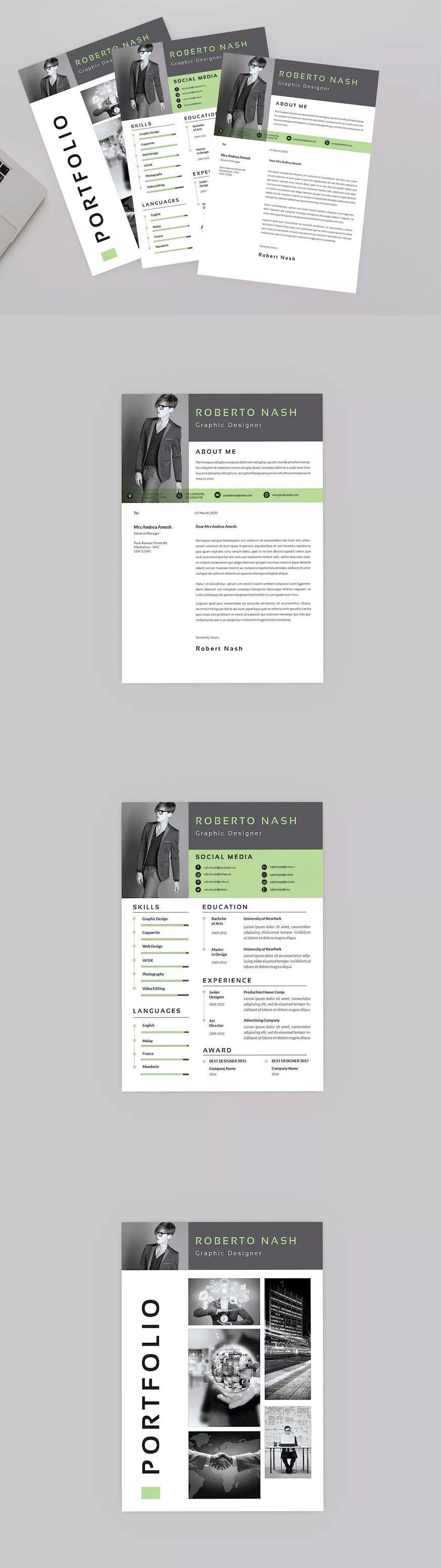 Hybrid Resume Designer by aqrstudio on Envato Elements