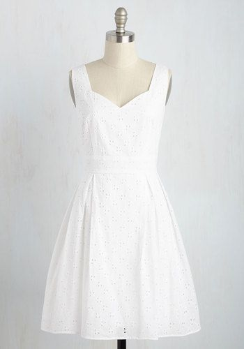 Sassed as You Can Dress in Eyelets | Mod Retro Vintage Dresses | ModCloth.com