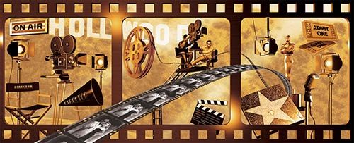 Border Store Online Movie Themed Wall Mural Mural Wall Murals Home Theater Lighting