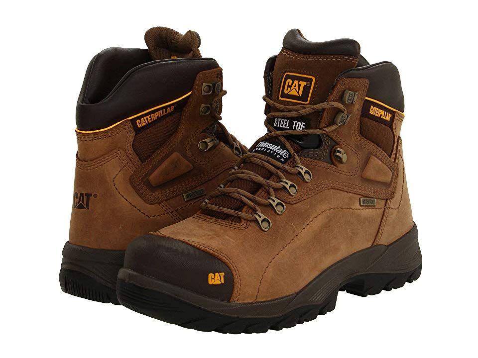 Caterpillar Diagnostic Hi Wp Steel Toe Men S Work Boots Dark Beige