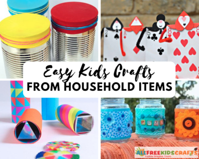 Easy Kids Crafts From Household Items In 2020 Diy Crafts Household Items Recycled Crafts Kids Easy Diy Crafts