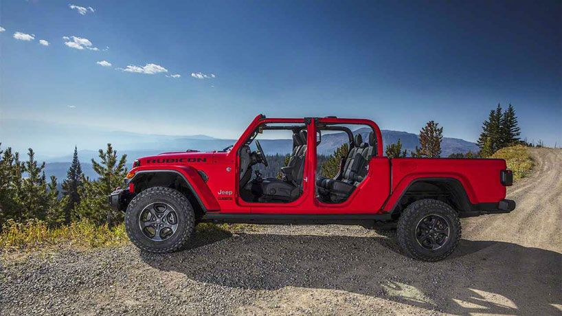 Jeep Unveils Its 2020 Gladiator A Cherry Red Open Air Dream