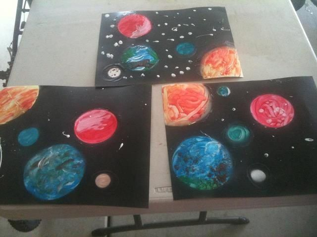 solar system art projects | Solar System art....you can do this ...