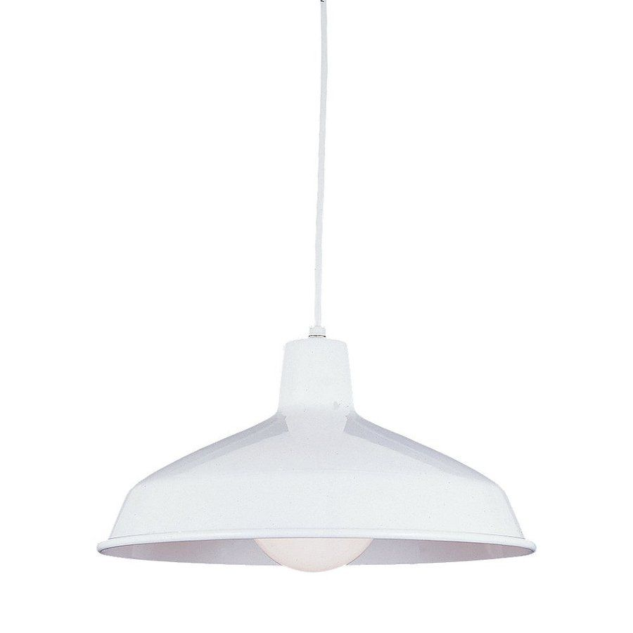 Sea gull lighting painted shade 16 in white industrial single sea gull lighting painted shade 16 in white industrial single warehouse pendant aloadofball Gallery