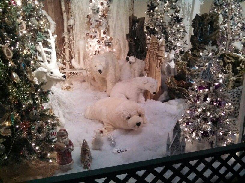 Polar Bear Christmas Display Christmas Window Display Retail Christmas Display Polar Bear Christmas