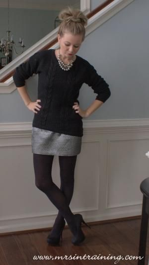 2331968e887 OOTD  Chunky knit black sweater from Target